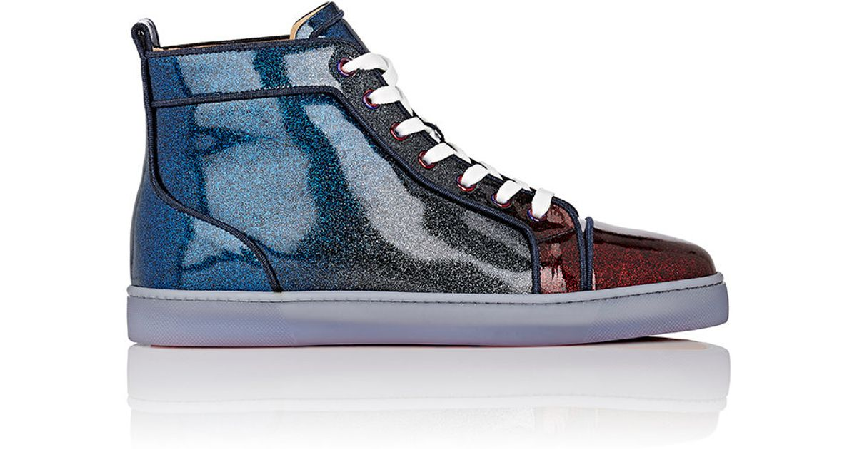 Lyst - Christian Louboutin Men s Louis Orlato Sneakers in Blue for Men b2d159d73