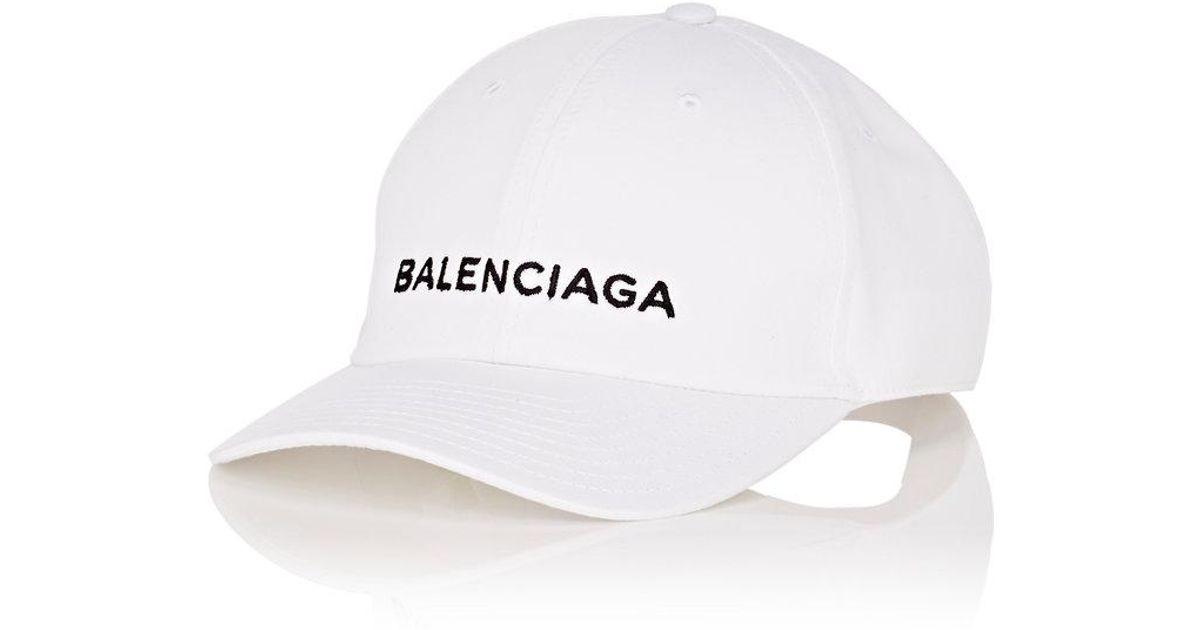 63b40e4952050 Balenciaga Baseball Cap in White for Men - Lyst
