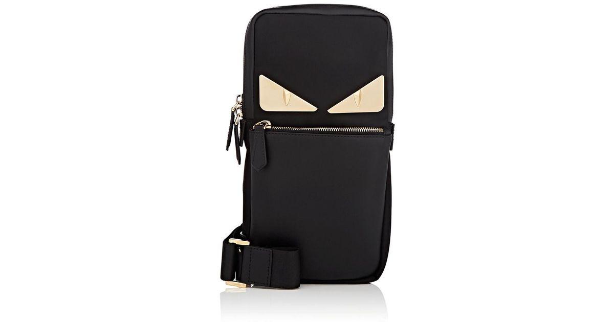 c4773f49f87f ... shopping lyst fendi bag bugs sling messenger bag in black for men a94ae  ccd14