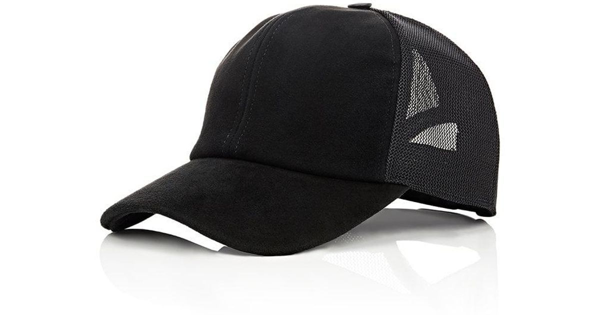 08549453e7 Vianel Suede Trucker Cap in Black for Men - Lyst
