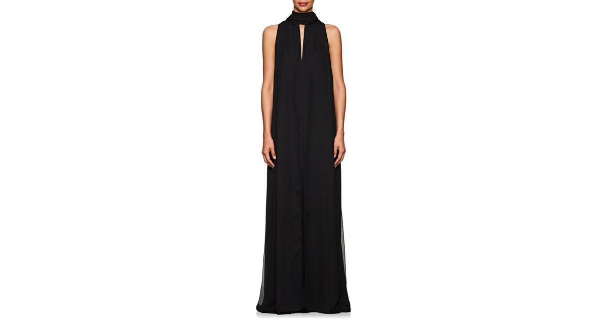 df94ab56c252 Juan Carlos Obando Santos Crepe Gown in Black - Lyst