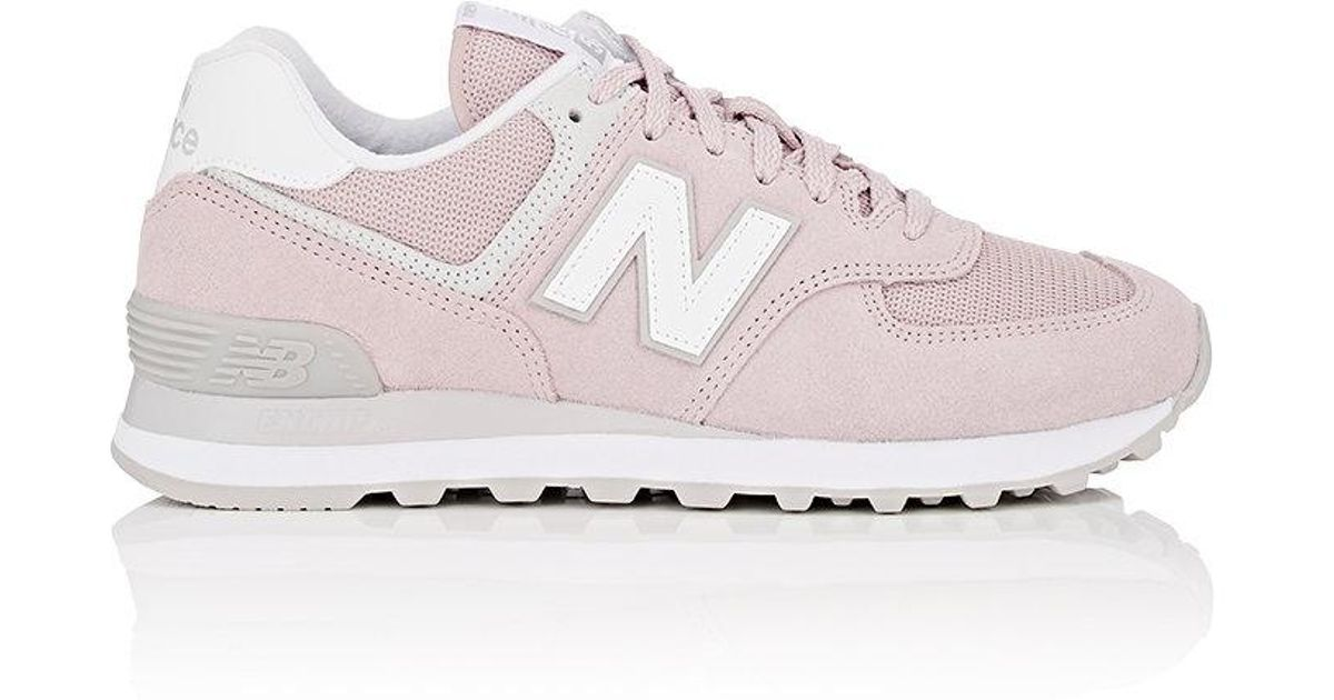 Pink Mesh Sneakers Lyst In 574 Classic New Suedeamp; Balance 3j5ALR4