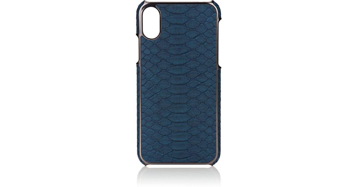 sports shoes 5c55d 993d0 Barneys New York Blue Python Iphone® X Case