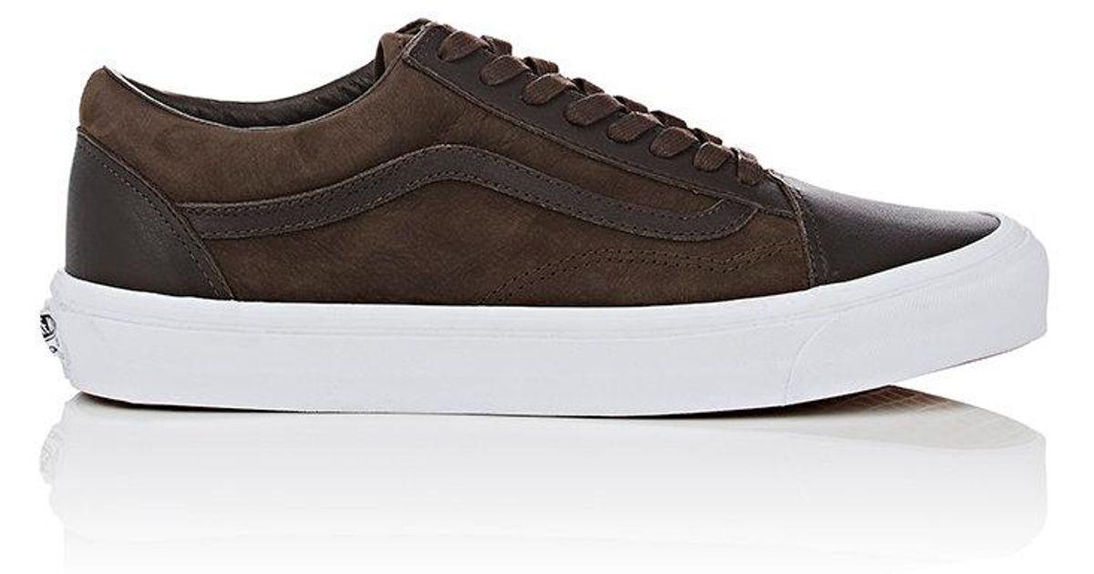 72fbda8936c47b Lyst - Vans Og Old Skool Nubuck   Leather Sneakers in Brown for Men