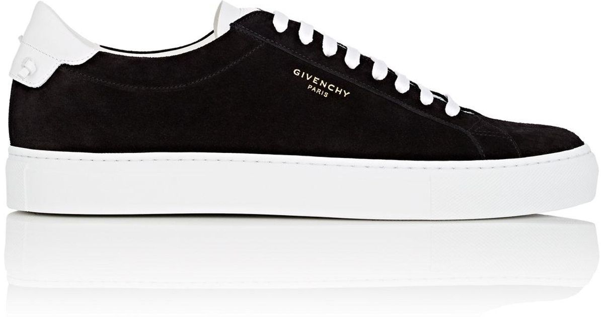 512b4a4ca11ac Lyst - Givenchy urban Knots Suede   Leather Sneakers in Black for Men