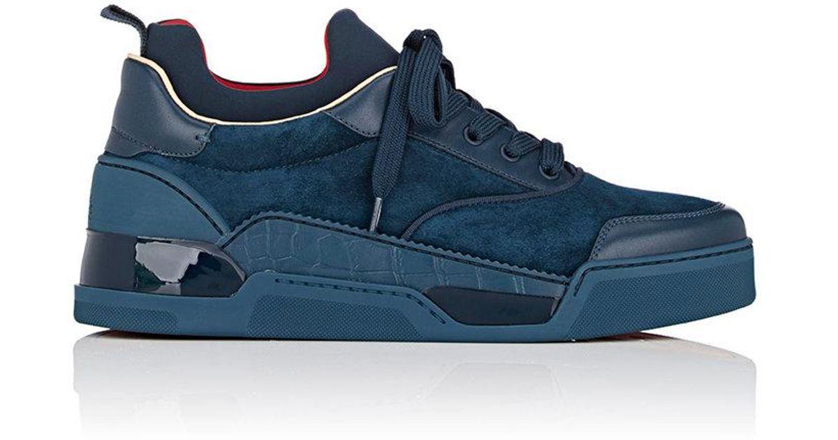 f978cead89d Lyst - Christian Louboutin Aurelien Flat Sneakers in Blue for Men