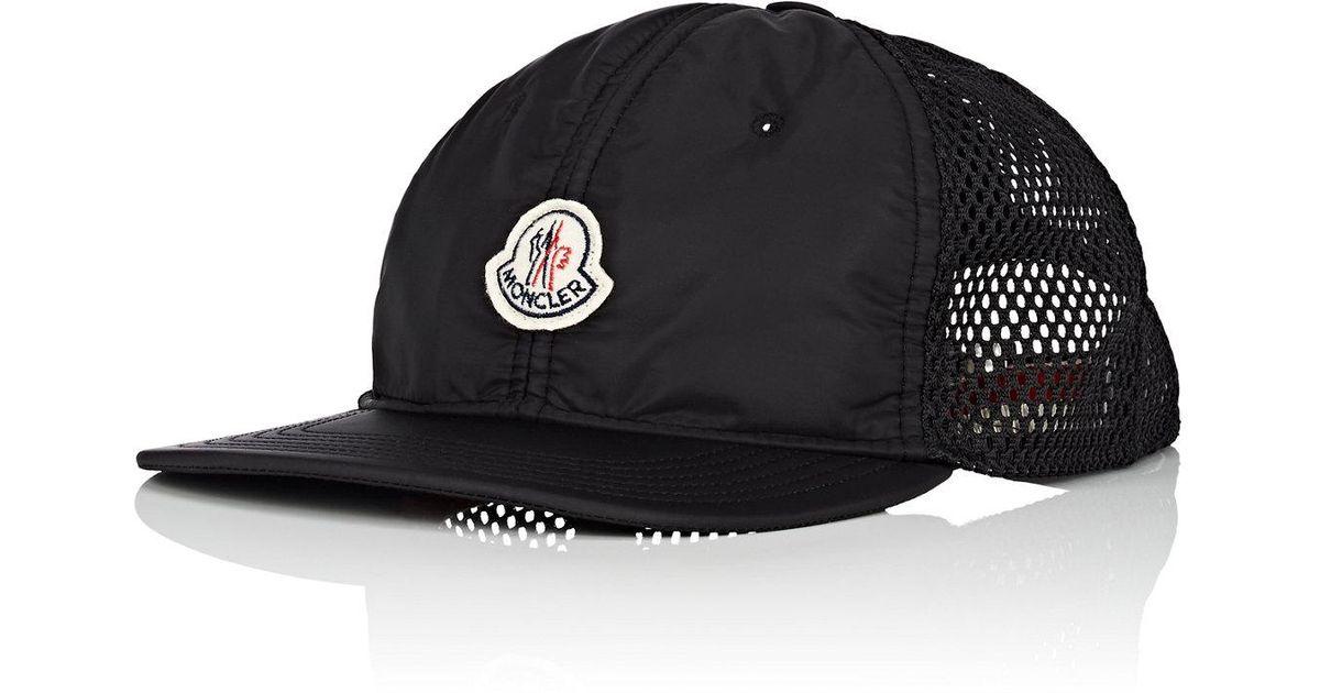 160bd1f1003 Lyst - Moncler Logo Mesh in Black for Men