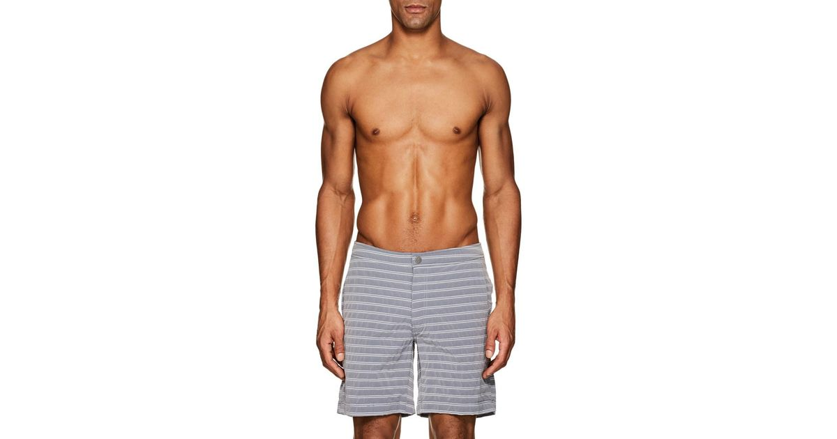02550fff35caf Lyst - Onia Calder Swim Trunks in Blue for Men