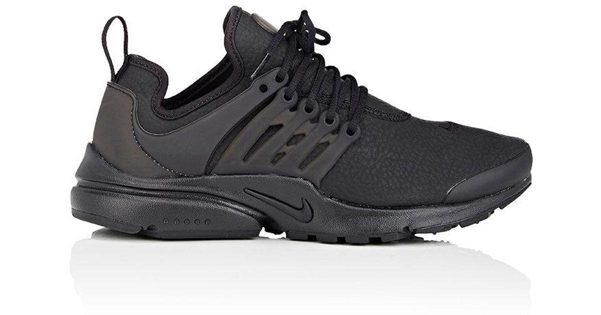 Lyst - Nike Air Presto Premium Leather Sneakers in Black for Men 2288d5cd7347