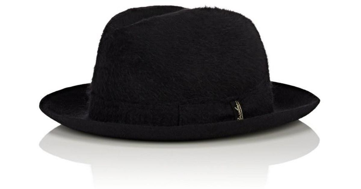4eb4d60b74f233 Borsalino Alessandria Fur Felt Trilby Hat in Black for Men - Lyst