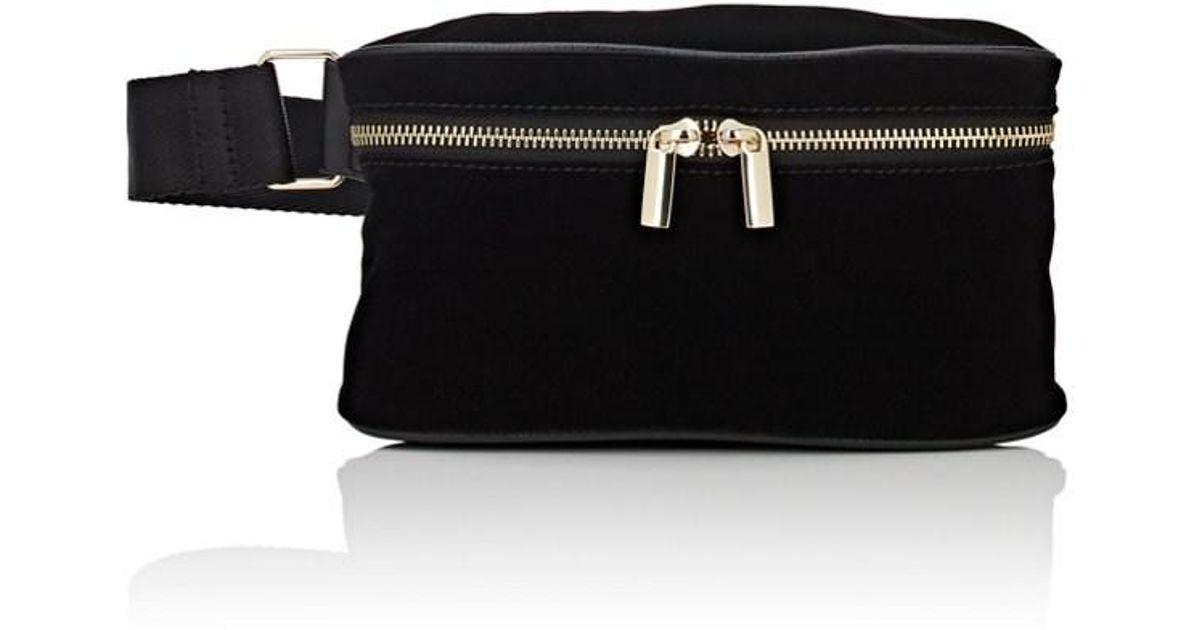 5427b0ca709 Barneys New York Velvet Belt Bag in Black - Lyst