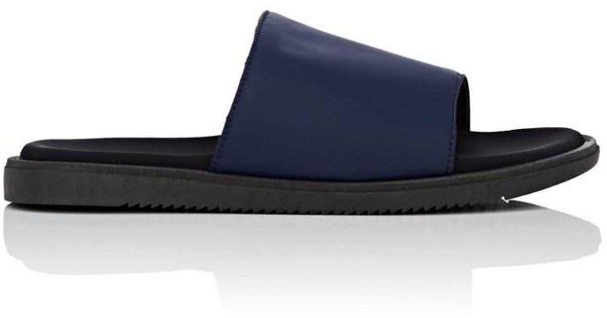 1a2c5357a Lyst - Barneys New York Neoprene Slide Sandals in Blue for Men
