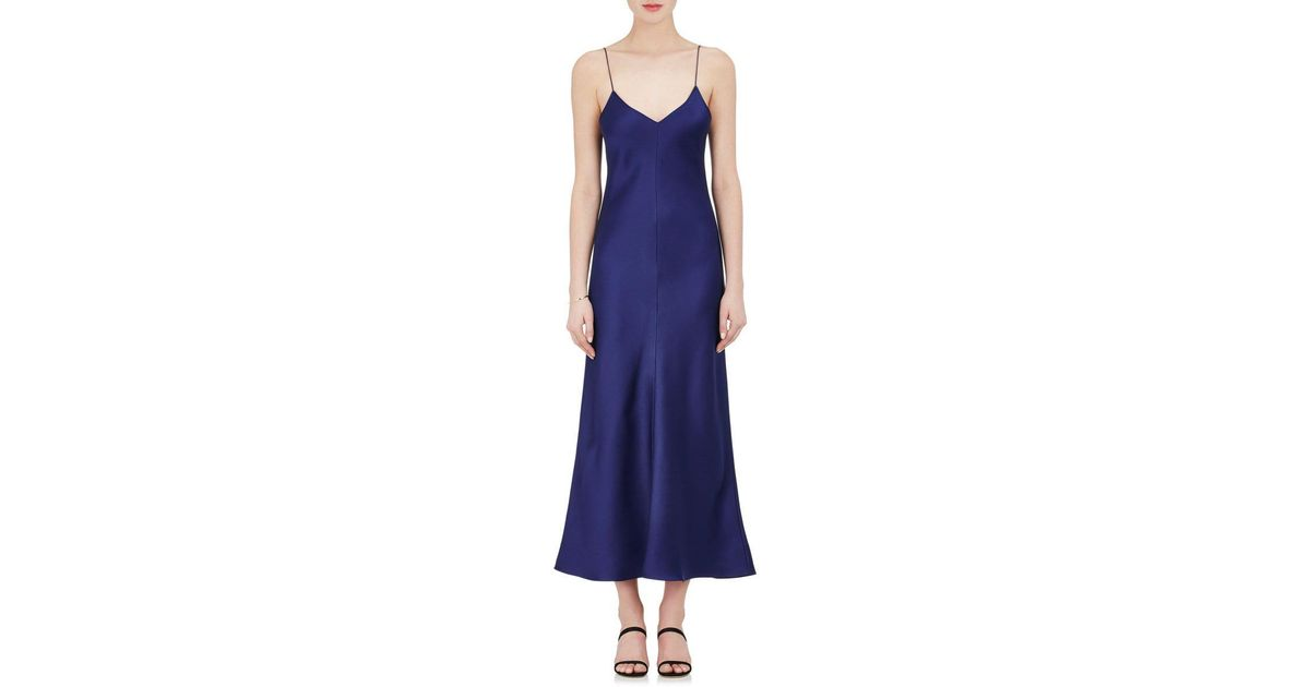 Lyst - The Row Guinevere Silk Slip Dress in Blue