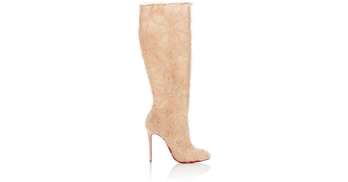Womens Toualtafrou Organza Knee Boots Christian Louboutin ammx7HAq