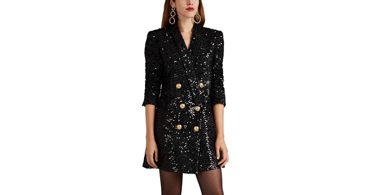 773fe4de Lyst - Balmain Sequined Blazer Minidress in Black