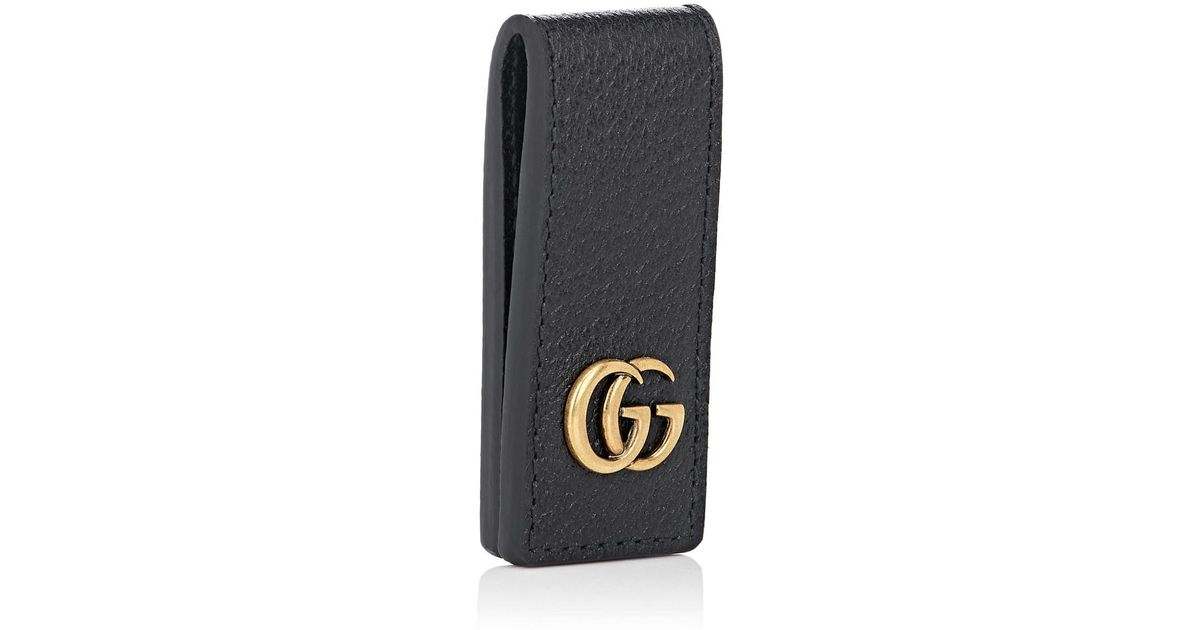 192335d58 Lyst - Gucci Marmont Leather Money Clip in Black for Men