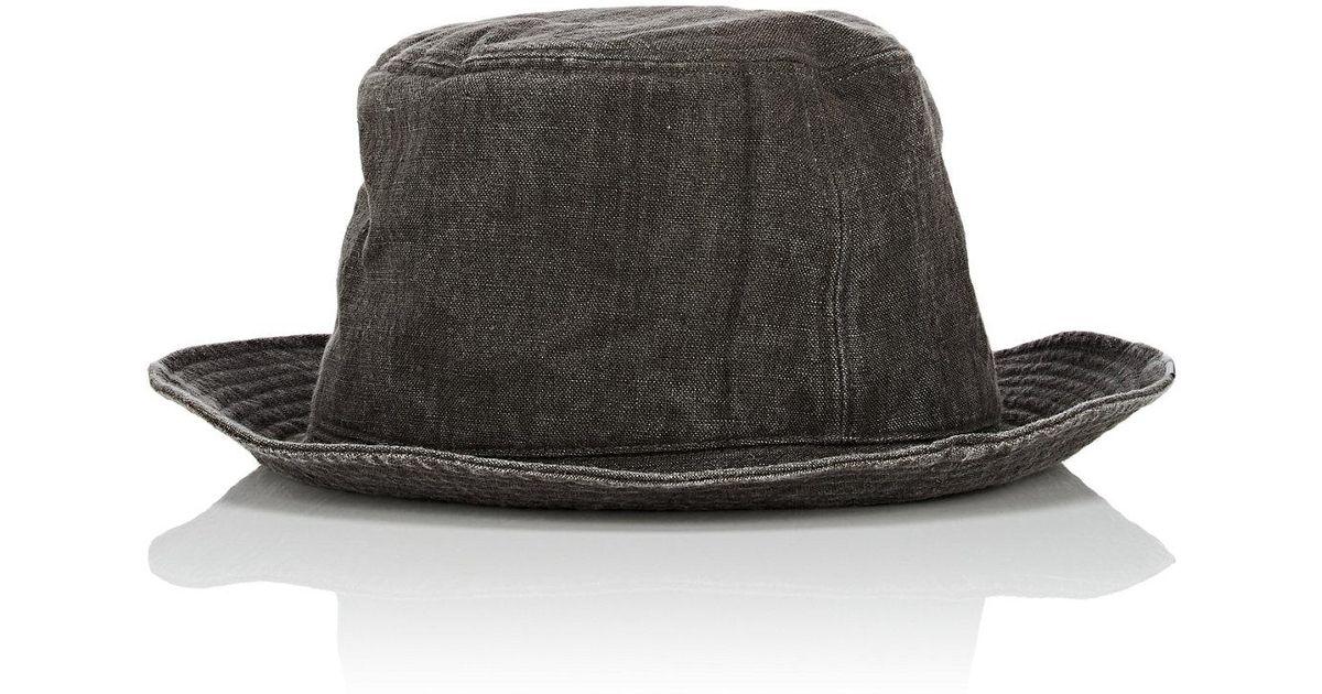Lyst - CA4LA Linen Bucket Hat in Gray for Men 0d4427d19e2