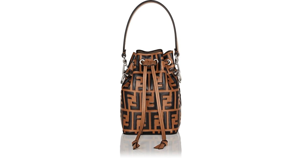 c2de830cfdd1 ... discount code for lyst fendi mon tresor mini bucket bag in brown 728a6  509ec