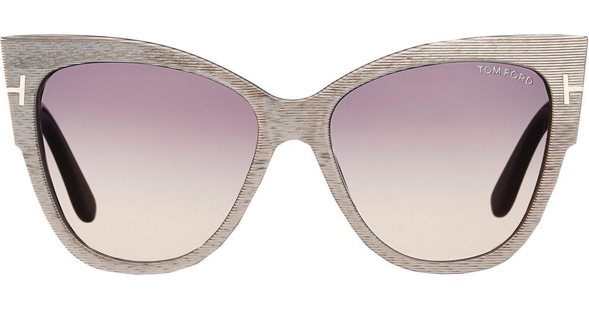 5729f31274 Tom Ford Anoushka Sunglasses in Gray - Lyst
