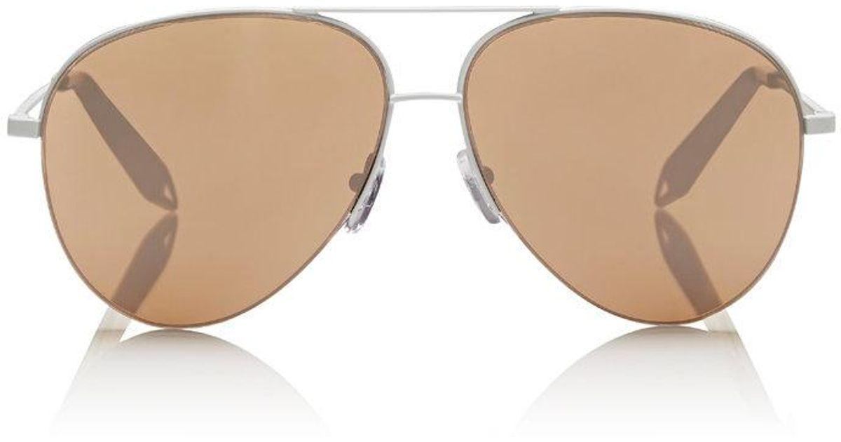367b5b733 Victoria Beckham Classic Victoria Sunglasses in Natural - Lyst