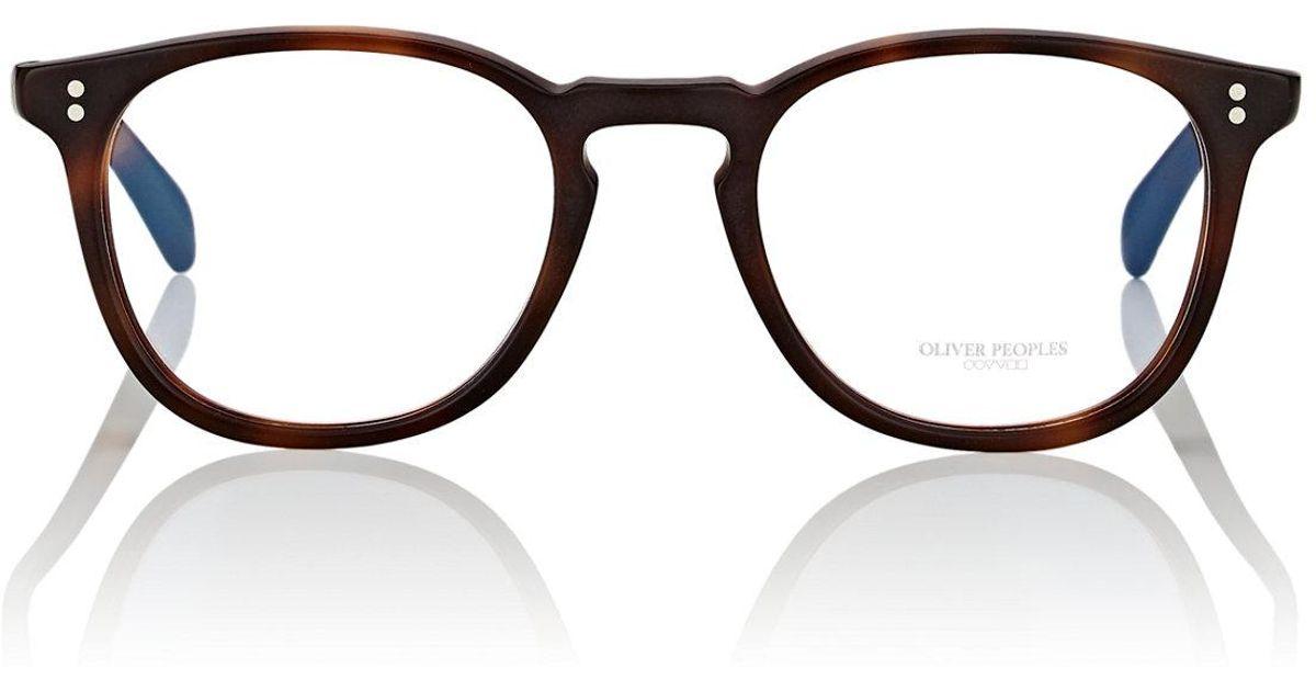 3f0959d5140 Lyst - Oliver Peoples Finley Esq. Eyeglasses in Brown