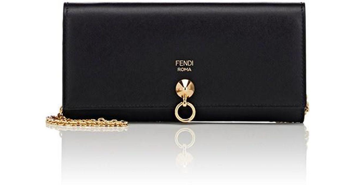 627791de8f Lyst - Fendi Abclick Chain Wallet in Black