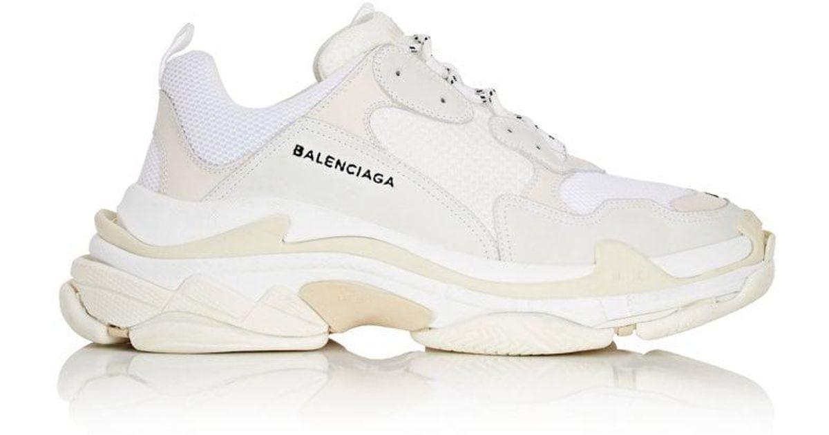 servizio duraturo grande vendita vendita online Balenciaga White Triple S Sneakers for men
