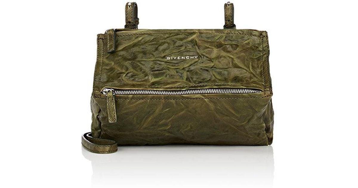6957fdbddb Lyst - Givenchy Pandora Mini Sheepskin Messenger Bag in Green