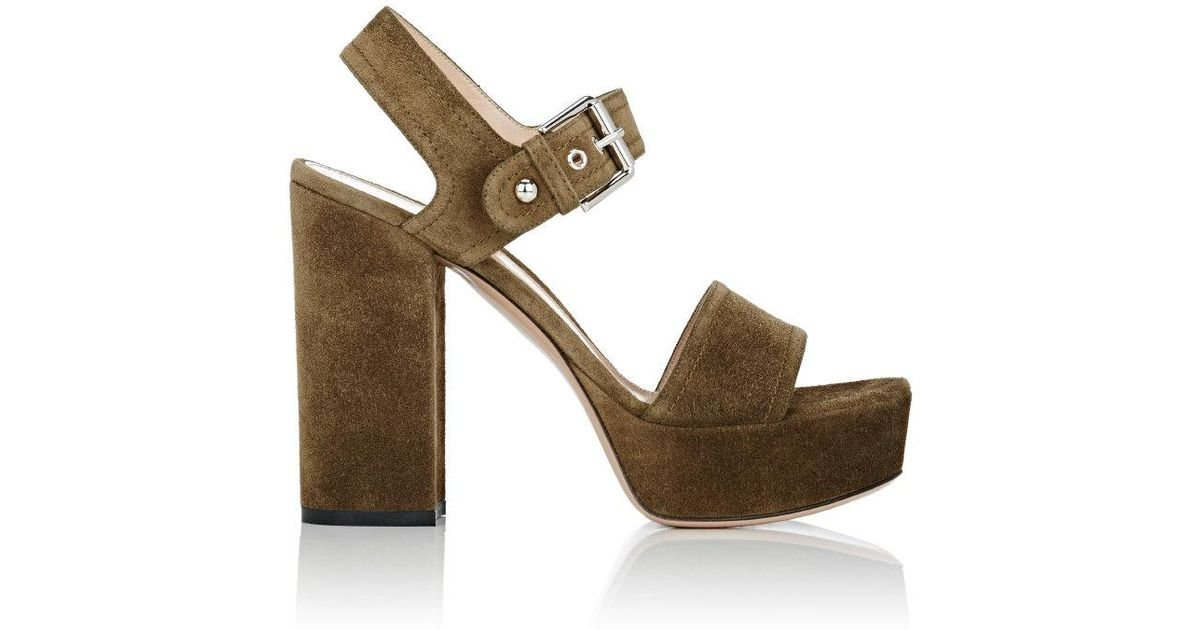 85b672536ce12 Lyst - Gianvito Rossi Gina Platform Sandals in Green