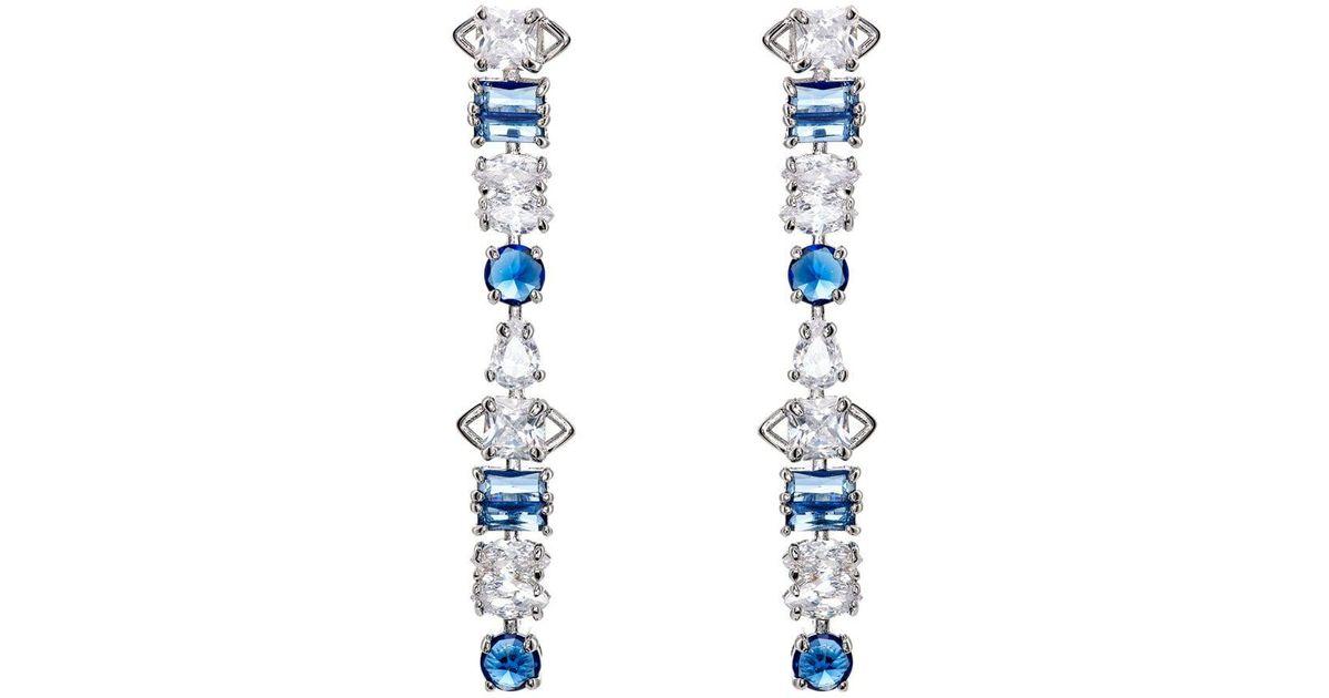701b2874d Lyst - Fallon Jagged Edge Drop Earrings in Blue