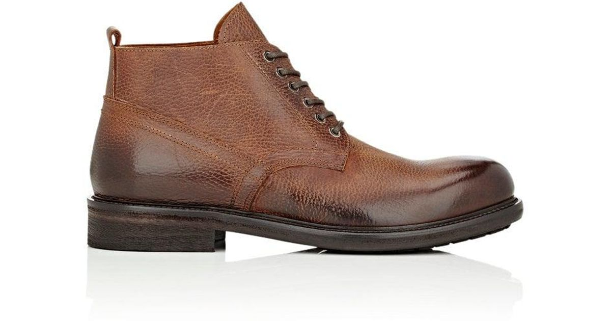 premium selection 862a0 7bb11 barneys-new-york-Brown-Grained-Leather-Lace-up-Boots.jpeg