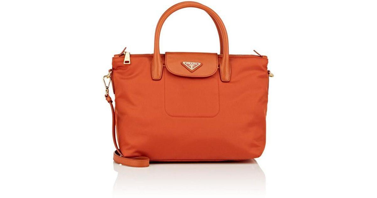 20ebcbf5e9f7 Prada Donna Lady Tote Bag in Orange - Lyst