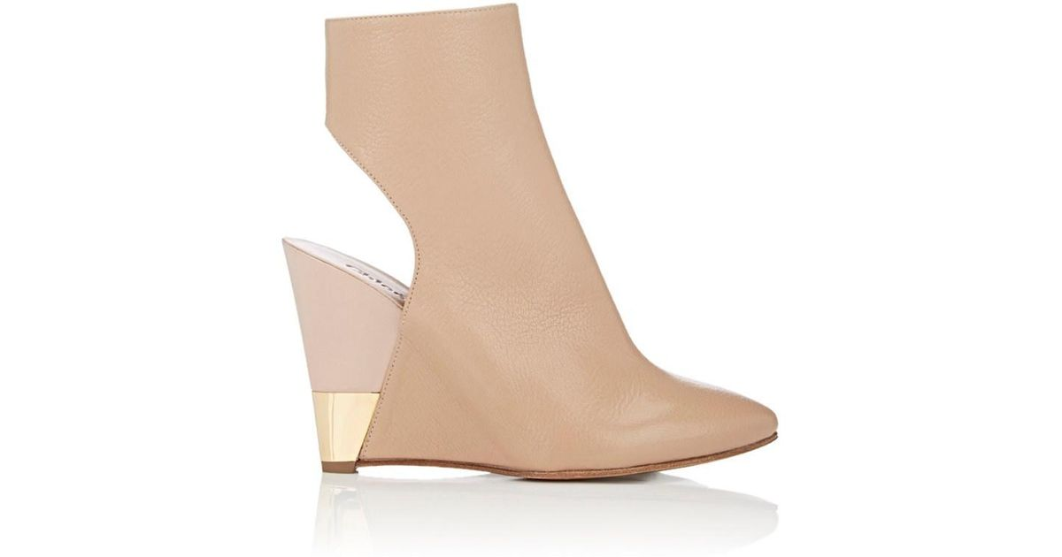 buy cheap looking for discount best prices Chloé Leather Wedged Boots cheap low price fee shipping kR8uzJ