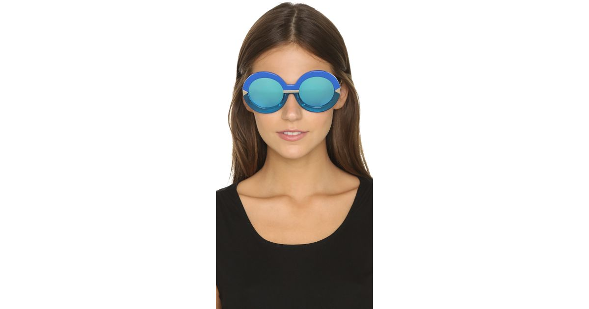 4f8f573c99616 Karen Walker Hollywood Pool Sunglasses in Blue - Lyst