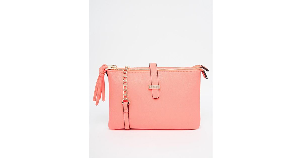 0ade9c0eed Lyst - Lipsy Coral Double Gusset Cross Body in Pink