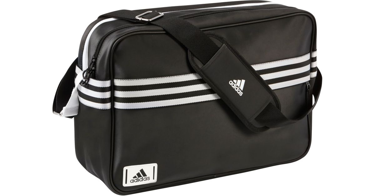 adidas Enamel Messenger Bag in Black for Men - Lyst 9ce306d3d9