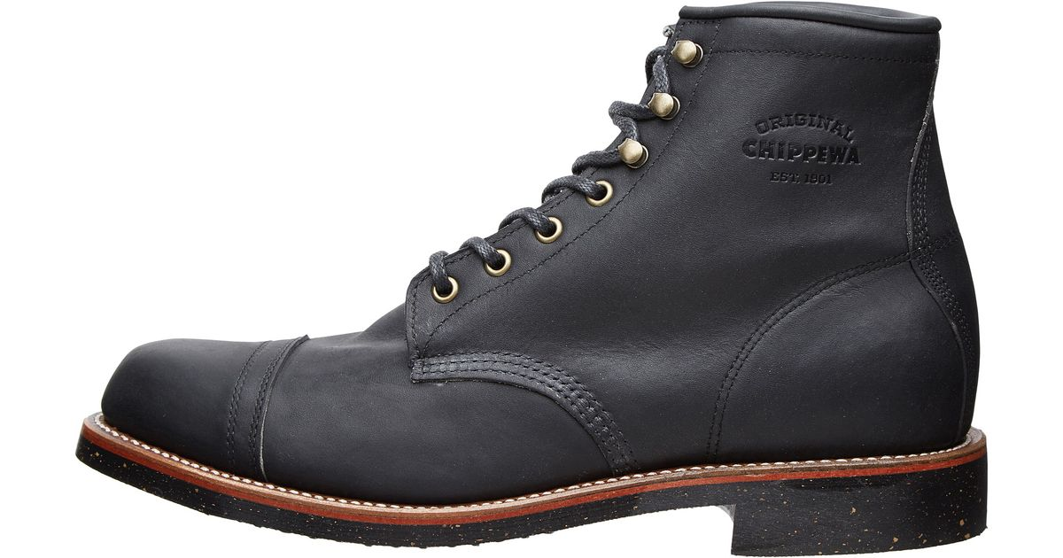 Chippewa 6 Quot Homestead Boot In Black For Men Lyst