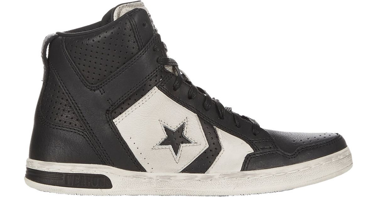 e4ce23092f0a Lyst - Converse Perforated Weapon Sneakers in Black for Men