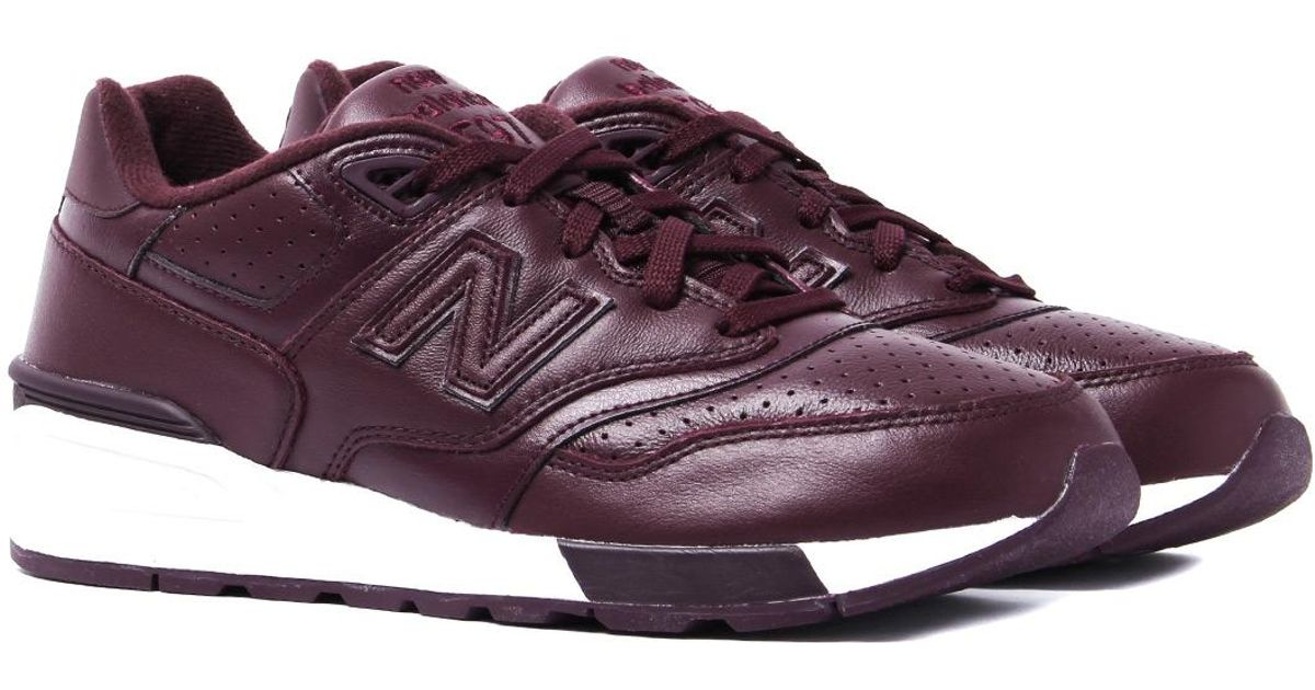 816090e57b0 New Balance - 597 Deep Purple Leather Trainers for Men - Lyst