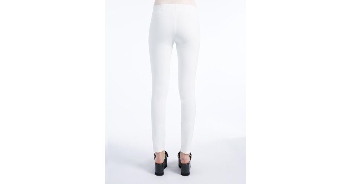 Joseph Gabardine Stretch Legging in White | Lyst