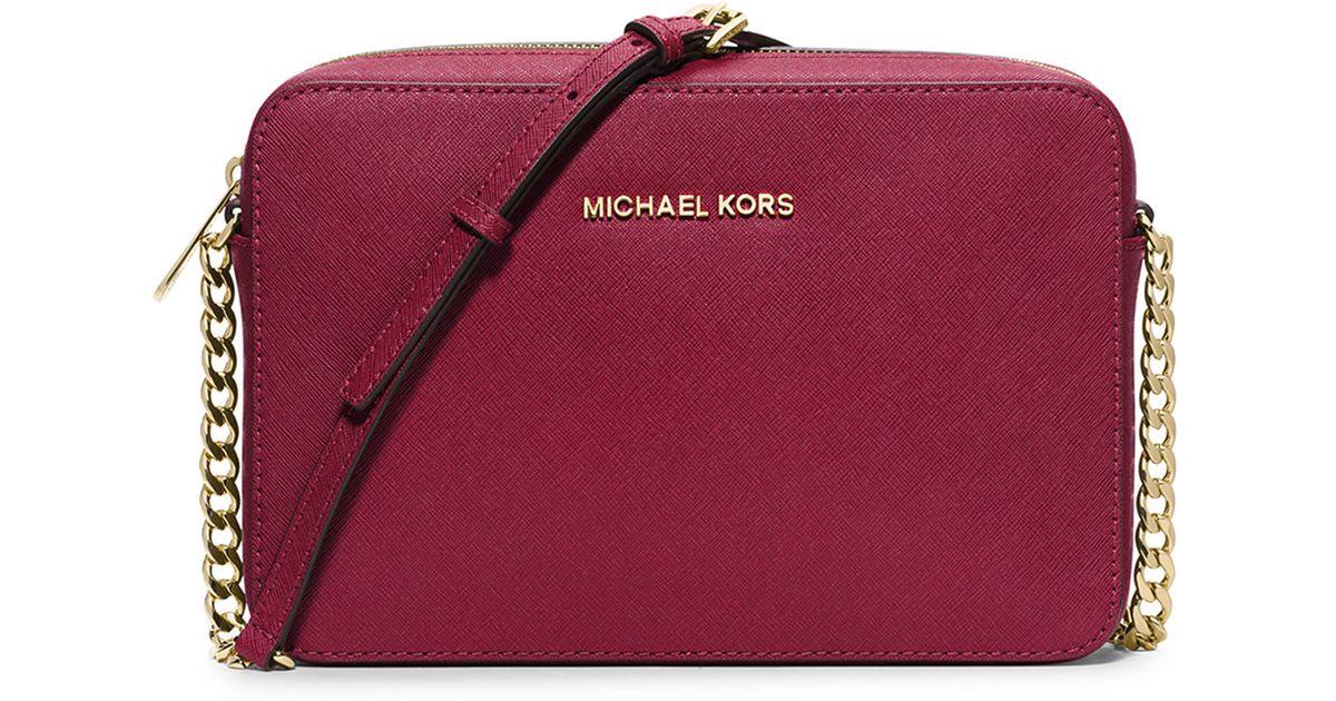 c5ef3d15eff7a3 MICHAEL Michael Kors Jet Set Travel Large Crossbody Bag in Red - Lyst