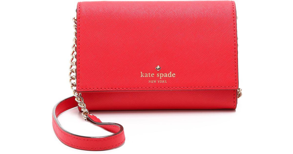 Lyst Kate Spade New York Cami Cross Body Bag In Red