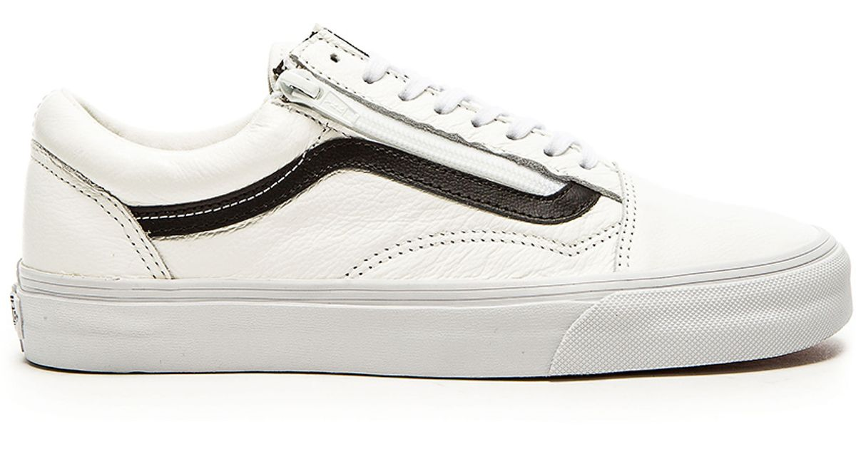 ... detailed images 41f94 981b0 Lyst - Vans Old Skool Zip Premium Leather  in White for Men ... 8403d5d0a
