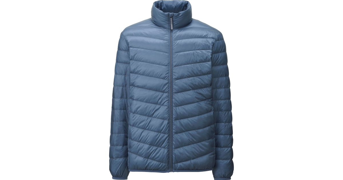 uniqlo men ultra light down jacket in blue for men lyst. Black Bedroom Furniture Sets. Home Design Ideas