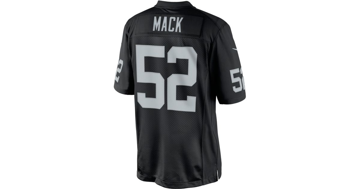 on sale 27aad bf718 Nike - Black Men's Khalil Mack Oakland Raiders Limited Jersey for Men - Lyst