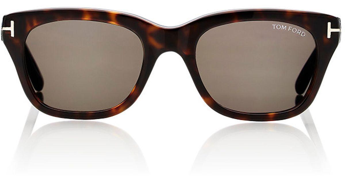 tom ford men 39 s snowdon sunglasses in brown for men lyst. Black Bedroom Furniture Sets. Home Design Ideas
