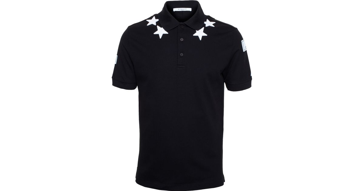 a906942e Givenchy Star Polo Shirt in Black for Men - Lyst