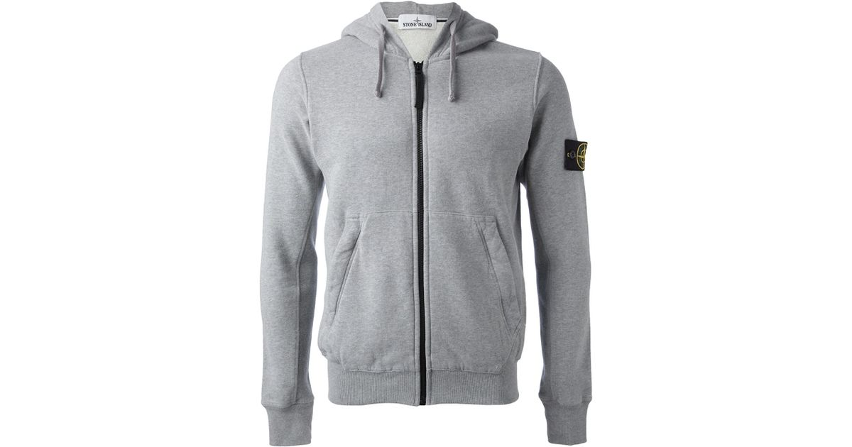 d69739aa4e13 Lyst - Stone Island Drawstring Hoodie in Gray for Men