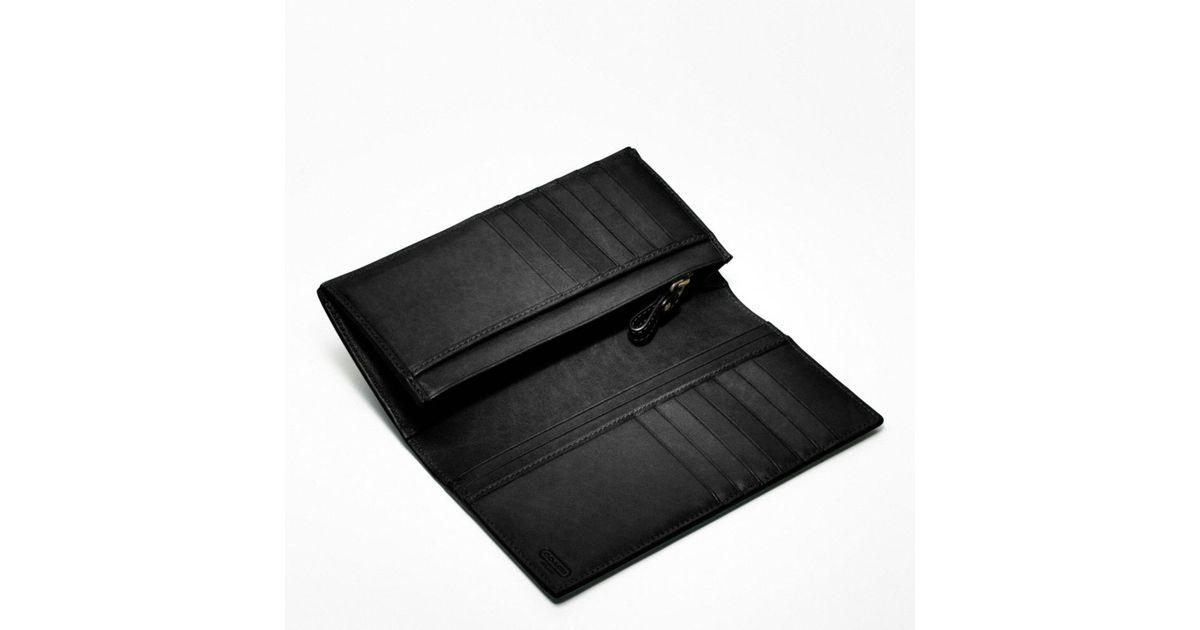 b20b42589914 ... get lyst coach bleecker breast pocket wallet in leather in black for men  6bba1 2e930