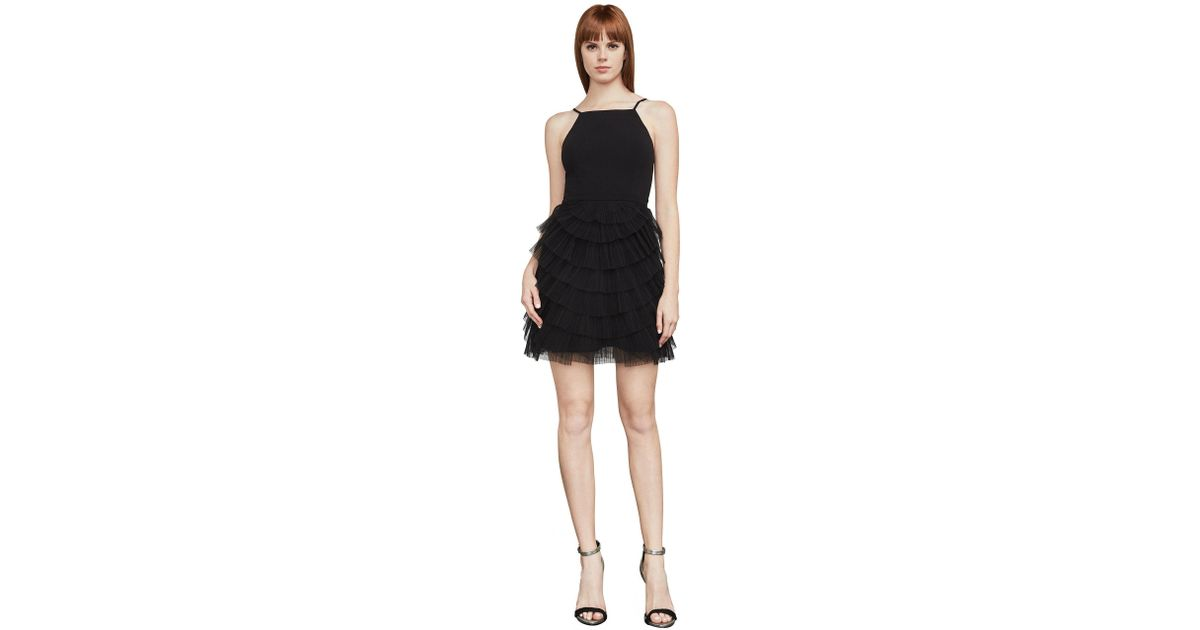 Lyst Bcbgmaxazria Bcbg Casandra Pleated Dress In Black